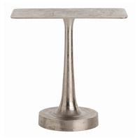 Bellamy 28 X 28 inch Distressed Nickel Side Table