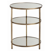 Percy 19 inch Antique Brass End Table