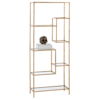 Worchester 61 X 24 inch Gold Leaf Etagere
