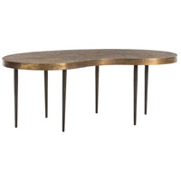 Sloan 44 X 17 inch Antique Brass/Natural Iron Cocktail Table Home Decor