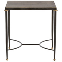 Tippin 24 X 20 inch Antique Brass/Natural Iron/Antique Brass Side Table Home Decor
