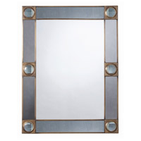 Arteriors 2205 Baldwin 40 X 31 inch Antique Brass and Antique Mirror Wall Mirror