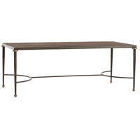 Tippin 48 X 24 inch Antique Brass/Natural Iron/Antique Brass Cocktail Table Home Decor