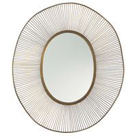 Olympia 41 X 34 inch Antique Brass Mirror Home Decor, Oval