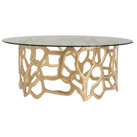 Brampton Gold Leafed Aluminum Cocktail Table Home Decor