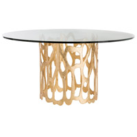 Brampton Gold Leafed Aluminum Dining Table Home Decor