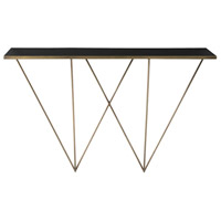 Gaston 53 inch Antique Brass Console Table