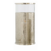 Arteriors 2494 Bombay 19 inch Polished Nickel and Clear Hurricane Portable Light, Large