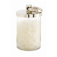 Arteriors 2507 Brooke Polished Nickel and Clear Container, Small