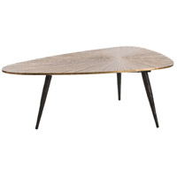 Slater 42 X 24 inch Antique Brass/Natural Iron Cocktail Table