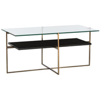 Barnes 40 X 20 inch Natural Iron/Black Marble Cocktail Table Home Decor