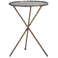 Sierra Antique Brass Accent Table Home Decor