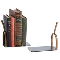 Spurs 8 X 5 inch Natural Iron/Antique Brass Bookend, Pair