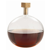 Arteriors 2620 Edgar 11 inch Decanter, with Cube Stopper