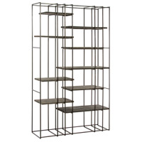 Terrace Natural Iron/Sandblast Gray Wood Bookshelf