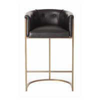 Calvin 39 inch Black and Antique Brass Bar Stool