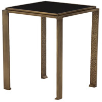Terence 15 X 15 inch Antique Brass/Black Granite Accent Table Home Decor
