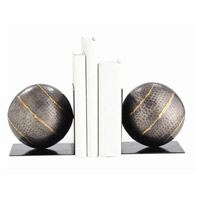 Arteriors 2695 Gauge 6 inch Natural Iron and Brass Welds Bookends, Set of 2