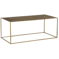 Davis 40 X 16 inch Antique Brass Cocktail Table, Rectangle