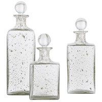 Georgia Sand Infused Glass Decanter, Set of 3, Square
