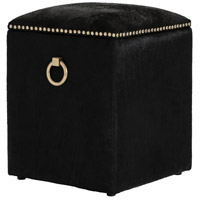 Arteriors 2954 Harrison 20 inch Black Hide Stool
