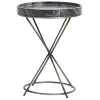 Grimes 15 inch Antique Zinc and Cosmic Marble Accent Table