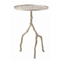 Forest 17 inch Distressed Silver Accent Table