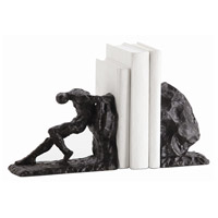 Jacque 12 inch Bronze Bookends, Set of 2