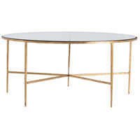 Winchester Gold Leafed Iron Cocktail Table Home Decor, Round