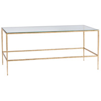Winchester 40 X 20 inch Gold Leafed Iron Cocktail Table Home Decor, Rectangular