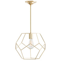 Arteriors 41001 Mara 1 Light 13 inch Polished Brass Pendant Ceiling Light, Small