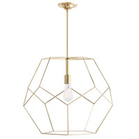 Arteriors 41002 Mara 1 Light 24 inch Polished Brass Pendant Ceiling Light, Large