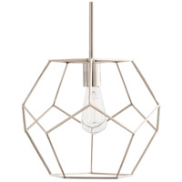 Mara 1 Light 13 inch Polished Nickel Pendant Ceiling Light, Small
