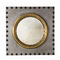 Hartley 22 X 22 inch Zinc and Antique Brass with Bronze Wall Mirror