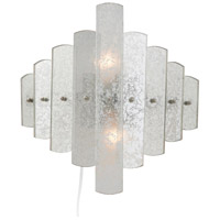 Iris 2 Light 14 inch Antiqued Mirror Sconce Wall Light