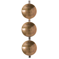 Arteriors 42080 Diesel 6 Light 9 inch Antique Brass/Natural Iron Sconce Wall Light, Round