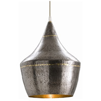 Arteriors 42413 Mason 1 Light 10 inch Dark Natural Iron and Brass Pendant Ceiling Light, Small