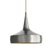 Mason 1 Light 13 inch Dark Natural Iron and Brass Pendant Ceiling Light