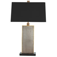 Graham 28 inch 100 watt Natural Iron and Brass Welds and Black Table Lamp Portable Light