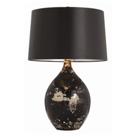 Flynn 28 inch 150 watt Black/Silver Marbled Reactive Table Lamp Portable Light