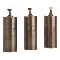 Arteriors 4301 Belfort Vintage Brass and Natural Containers, Set of 3