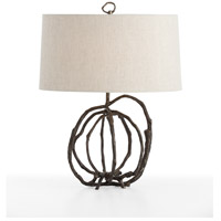 Patrice 22 inch Natural Cast Iron Table Lamp Portable Light