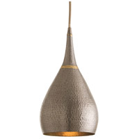 Arteriors 44065 Ophelia 1 Light 9 inch Natural Iron and Brass Welds Pendant Ceiling Light