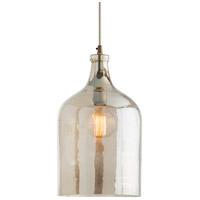 Arteriors 44081 Noreen 1 Light 10 inch Vintage Brass Pendant Ceiling Light