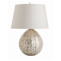 Arteriors 44105-272 Edaline 26 inch 150 watt Distressed Silver Leaf Table Lamp Portable Light
