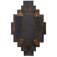 Trinidad 1 Light 14 inch Waxed Iron Sconce Wall Light
