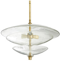 Arteriors 44425 Renzo 3 Light 20 inch Gold Leaf Pendant Ceiling Light