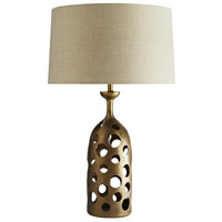 Arteriors 44426-305 Pierce 28 inch 150 watt Antique Brass Table Lamp Portable Light