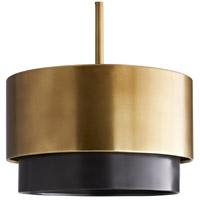 Arteriors 44906 Nolan 3 Light 14 inch Antique Brass Mini Pendant Ceiling Light