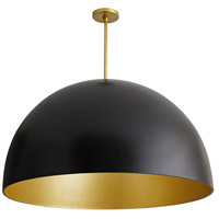 Pascal 1 Light 36 inch Black and Antique Brass Pendant Ceiling Light